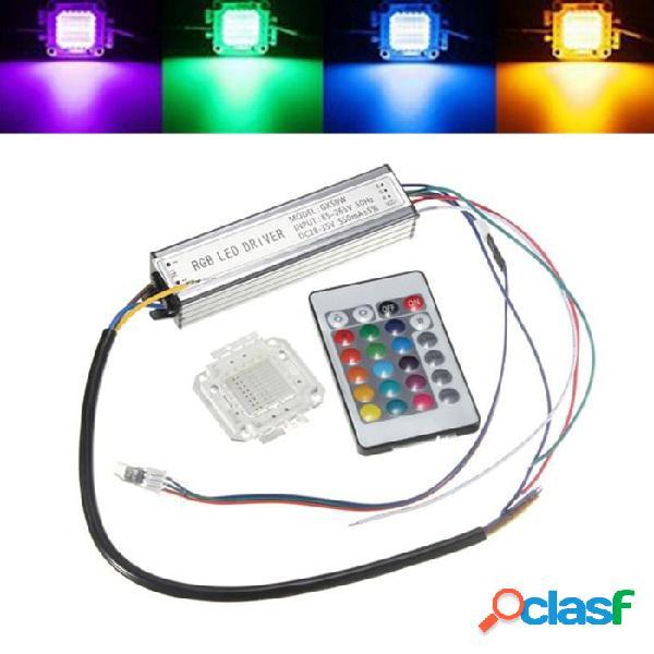 50w RGB bombilla viruta resistente al agua LED fuente de