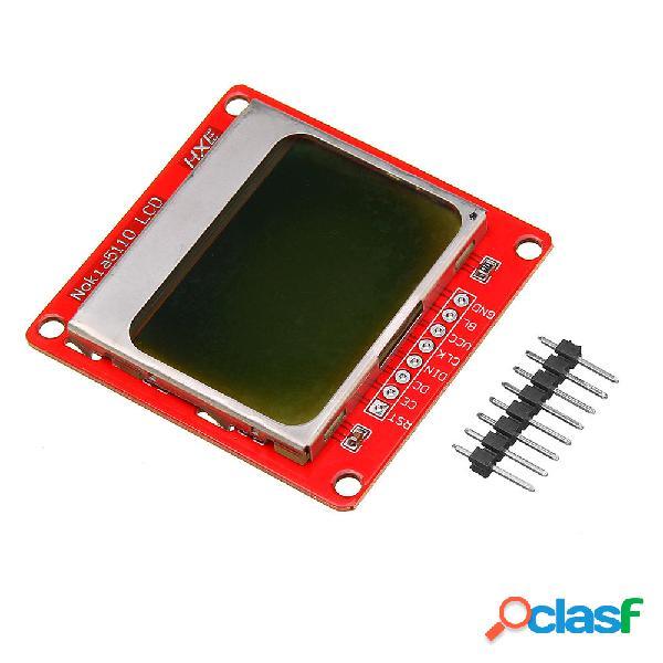5110 84x48 LCD Pantalla Módulo Luz de fondo blanca para UNO