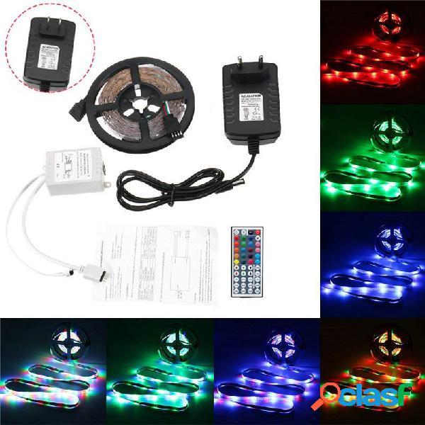 5M 24W Impermeable 3528SMD RGB LED Luces de Tira + 44 Teclas