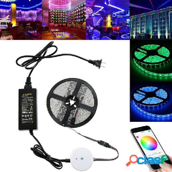 5M 60W SMD5050 Impermeable Bluetooth APP Control RGB LED Kit