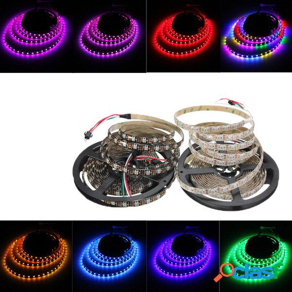 5M 90W 300SMD WS2812B LED RGB Colorida Tira de Luz