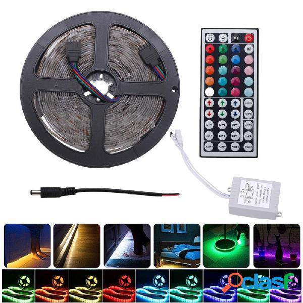 5M IP20 IP67 SMD2835 RGB LED Tira de luz DC12V + 24Keys o