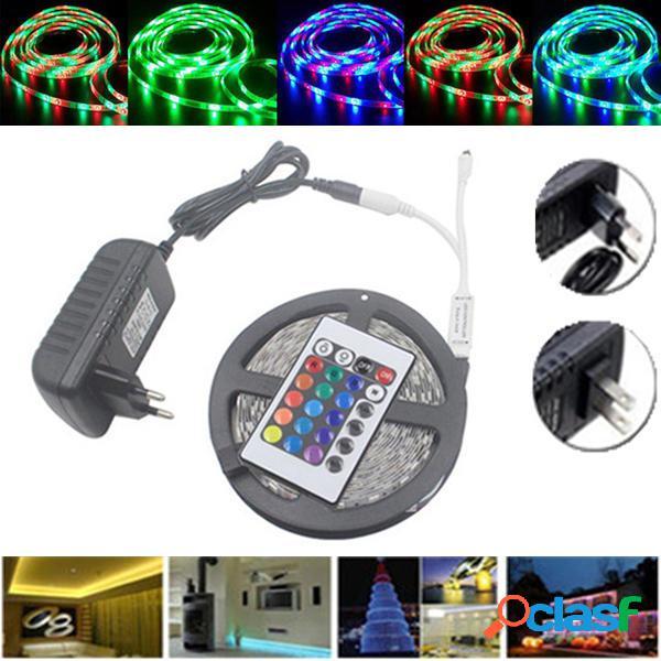 5M Impermeable 3528 RGB 300 LEDs Luz de Tira Flexible de 24