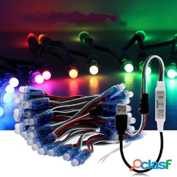 5M WS2811 RGB IP68 a todo color 50PCS Bombillas LED Módulo