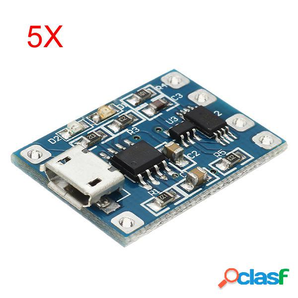 5Pcs Micro USB TP4056 Carga Y Módulo De Protección De