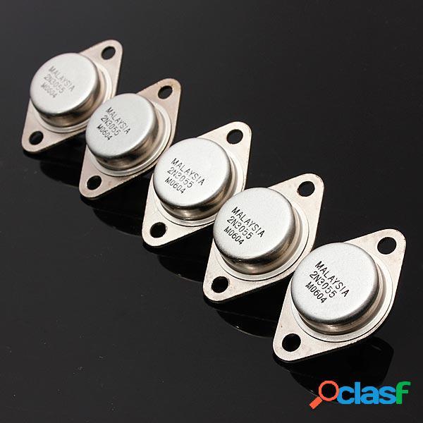5Unids 2N3055 NPN Amplificador de Alta Potencia y Transistor