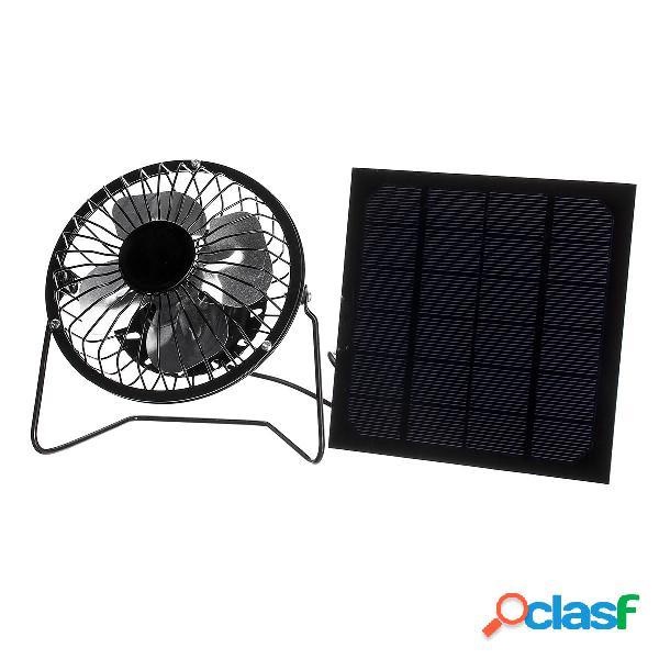 5W Protable Solar Panel + Kit de ventilador de enfriamiento
