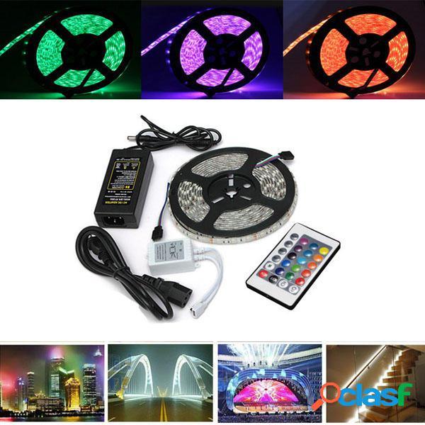 5m RGB impermeable 5050 300 LED Luz de Tira de Cuerda