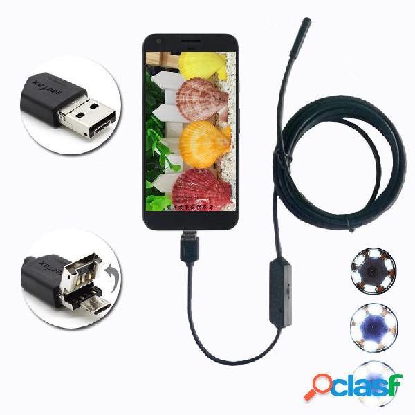 6 LED Impermeable Inspección de endoscopio Micro USB