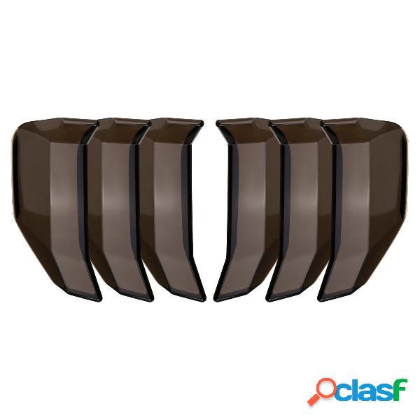 6 Unids / set Coche Cubierta de la luz trasera Etiqueta