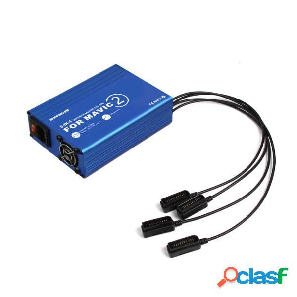6 en 1 Rapid Batería Cargador Hub Multi potencia para DJI