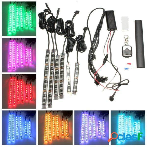 6pcs rgb LED tiras de neón flexibles luz para auto moto atv
