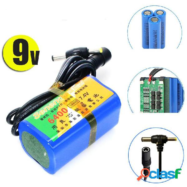 7.4V 6400mAh Power Bank18650 LiPo Batería Paquete 2S DC