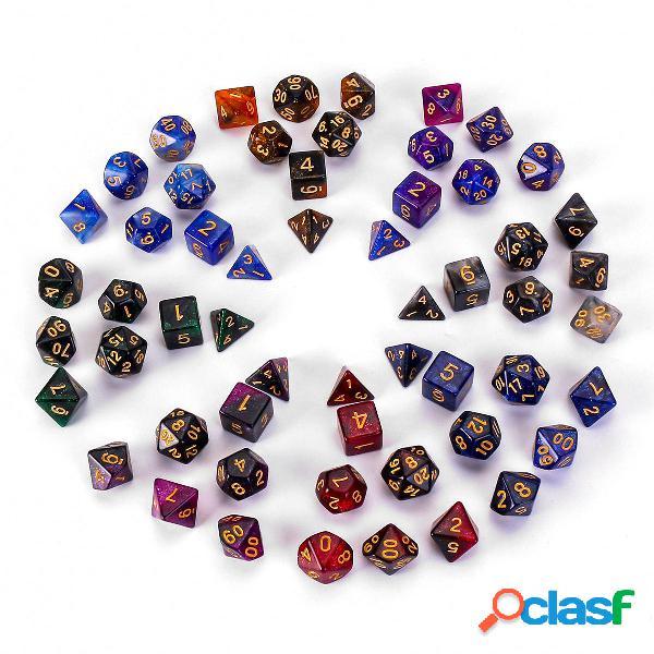 7 piezas de dados poliédricos para juegos de dragones de