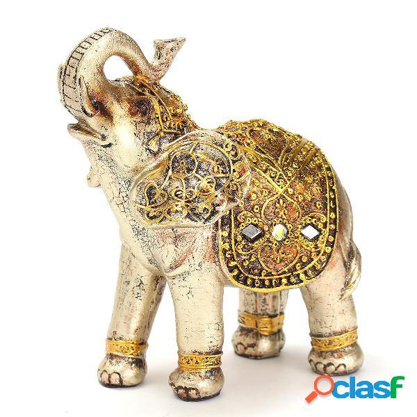 7pcs resina mini elefantes exóticos adornos elefante