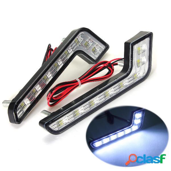 8 LED Luces de Conducción Diurno DRL Blanco de Niebla para