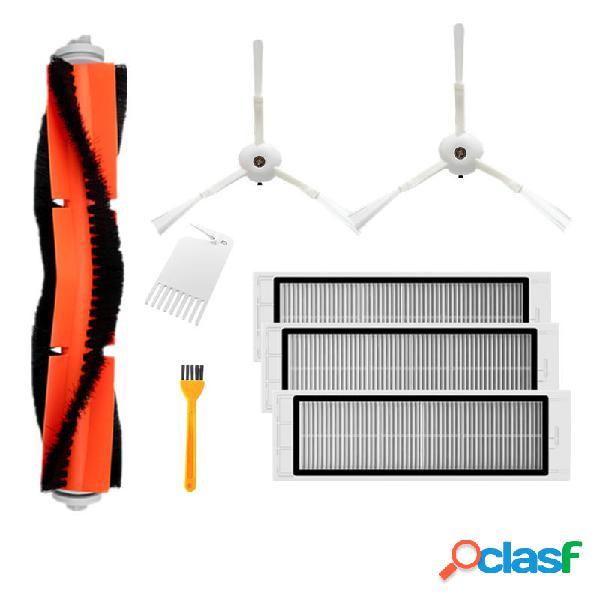 8 piezas de accesorios Cepillo lado Cepillo filtros HEPA