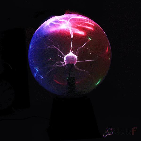 8 pulgadas, mezcla, color, luz, bola de plasma,