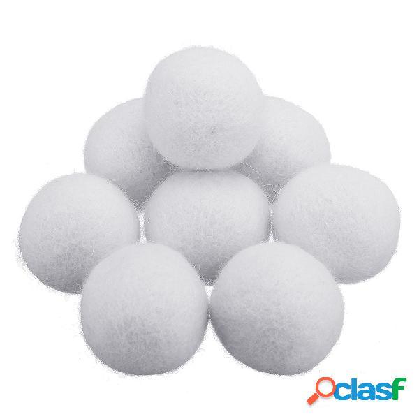 8Pcs / Set 2/3/4/5 / 7cm Bola de secadora de lana de tela