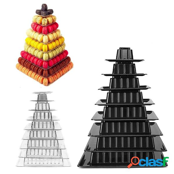 9 gradas Macaron Tower Cake Stand Cupcake Holder Cumpleaños