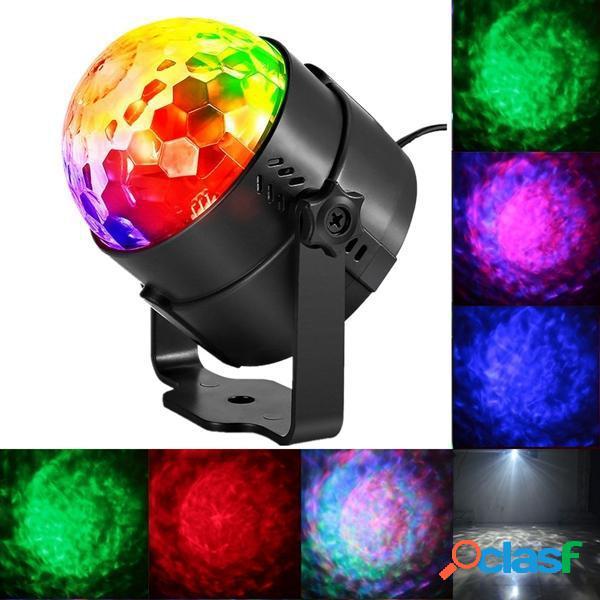 9W RGBW Control remoto Control de sonido LED Efecto de la