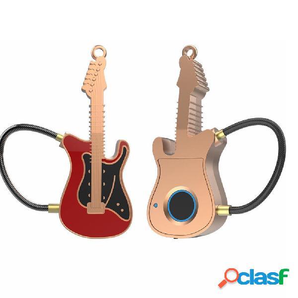 APP de huella digital bluetooth Candado Estilo de guitarra