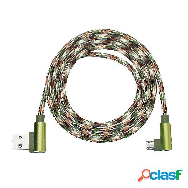 APPACS Camuflaje Micro USB a USB Doble 90 Dregee Cable de