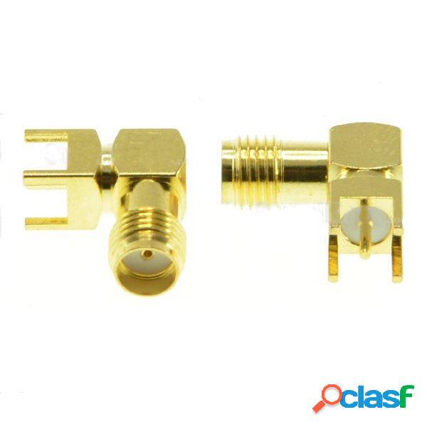 Adaptador hembra 2pcs SMA ángulo recto Soldadura para PCB