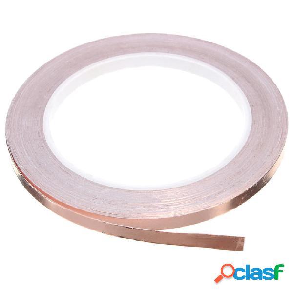 Adhesivo de 6 mm x 20 m Cobre Foil Tape EMI Shielding Slug