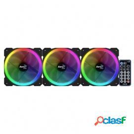 Aerocool Orbit RC Pack 3 Ventiladores RGB 120mm + Mando a