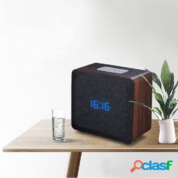 Alarma de altavoz inalámbrico Bluetooth Reloj Retro de