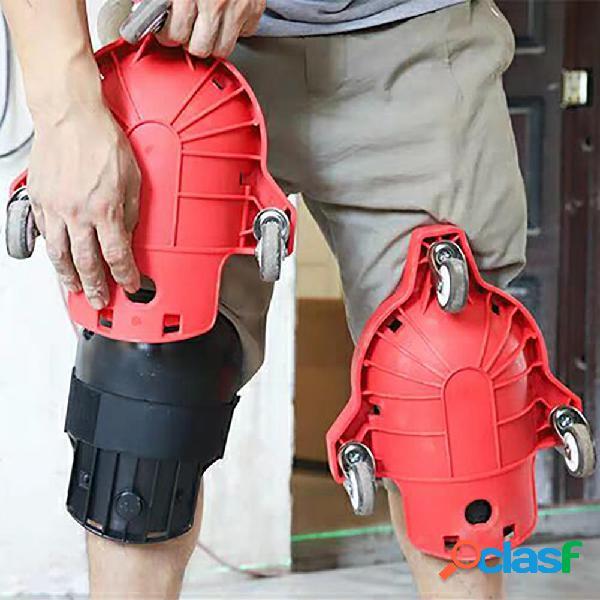 Almohadilla de protección para la rodilla con ruedas con