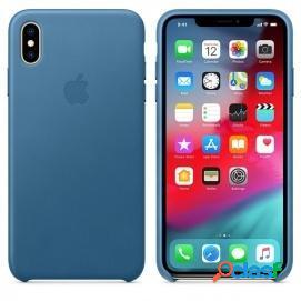 Apple Funda Leather Case Azul Cabo para iPhone XS Max