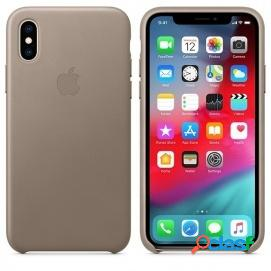 Apple Funda Leather Case Marrón Topo para iPhone XS Max