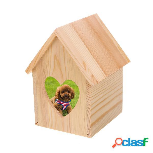 Ataúd para mascotas de madera Gato Perro Cenizas de