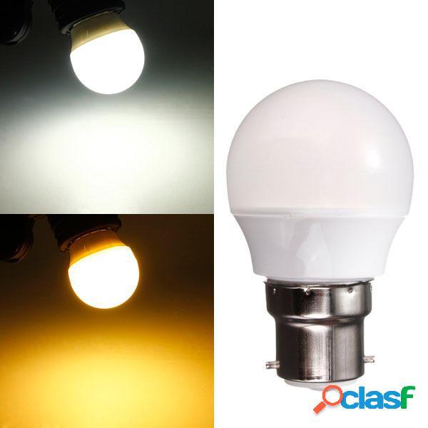 B22 3w blanco cálido / ac 220v blanco 8 SMD 2835 LED globo