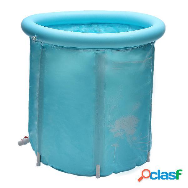 Bañera inflable plegable portátil de 30 pulgadas al aire