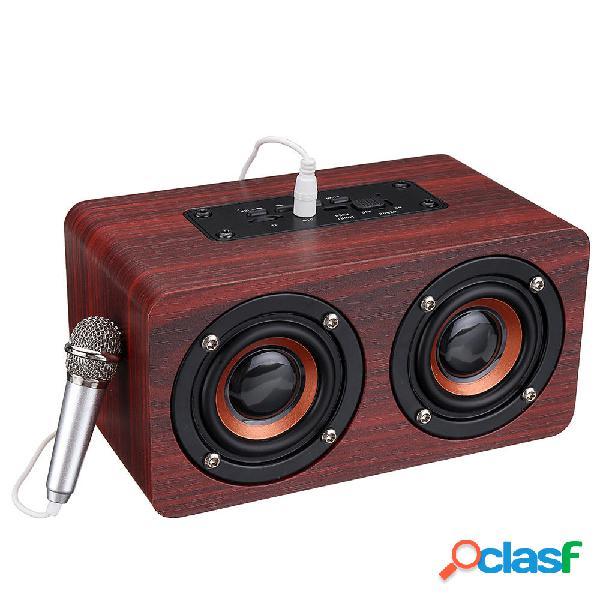 Bajo estéreo de madera Bluetooth 4.2 Altavoz Audio Música