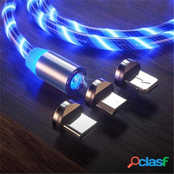 Bakeey 2.4A Micro USB Type C luz LED Cable de datos de carga