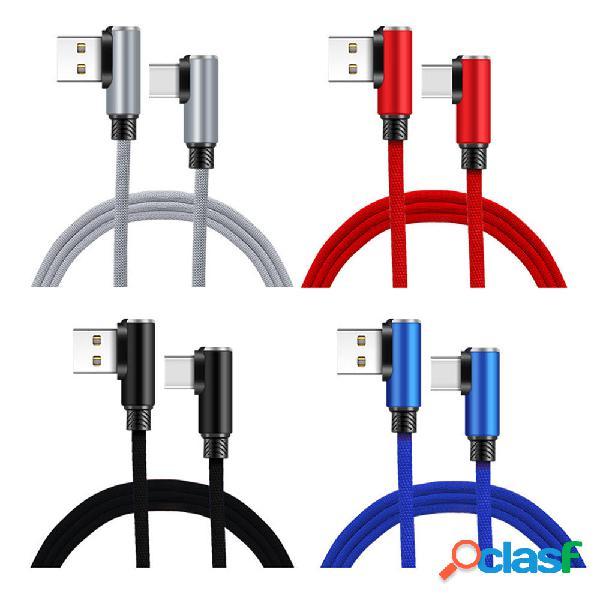 Bakeey 2A Type C Cable de datos de carga rápida de doble