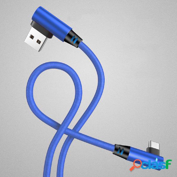 Bakeey 3A Type-C Luz indicadora inteligente micro USB Cable
