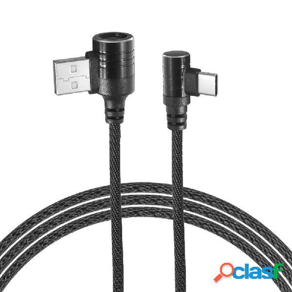Bakeey Cable de datos de carga rápida dual 90 Degree Type C