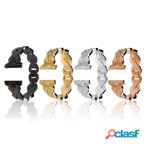 Bakeey reloj inteligente de acero inoxidable de acero