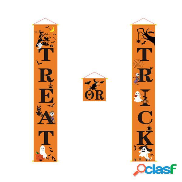 Banner de pórtico de Halloween al aire libre Decoraciones