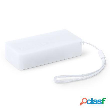 Batería Externa 4000 mAh color blanco