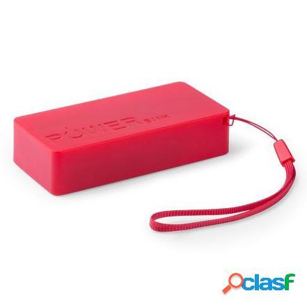 Batería Externa 4000 mAh color roja