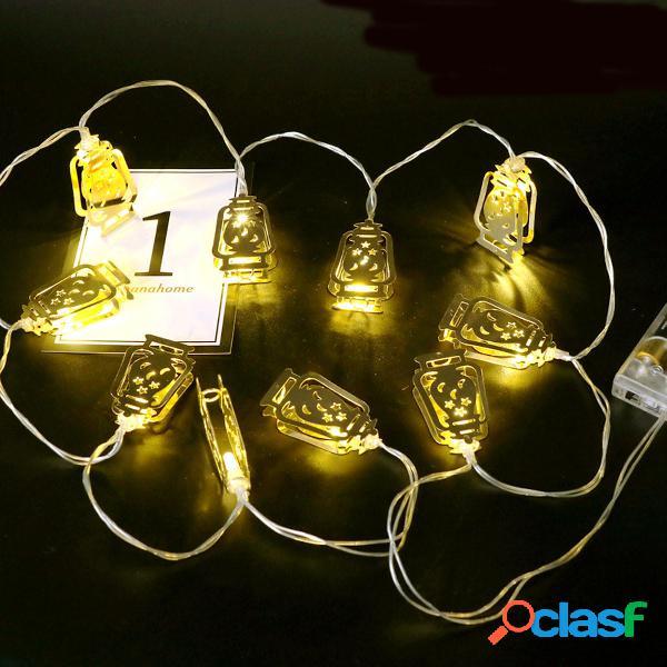 Batería Operado Golden Fanoos Lantern 10 LED String Fairy