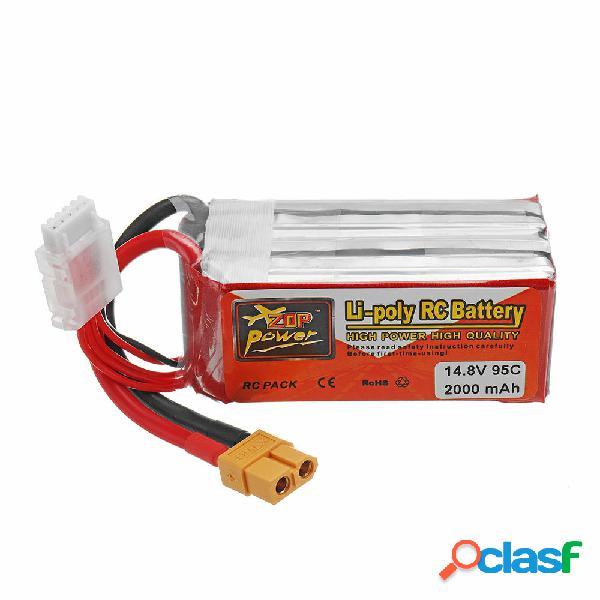 Batería de Lipo ZOP POWER 14.8V 2000mAh 95C 4S Con Enchufe