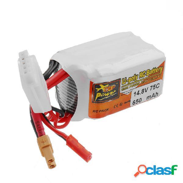 Batería de Lipo ZOP POWER 14.8V 650mAH 75C 4S Con Enchufe