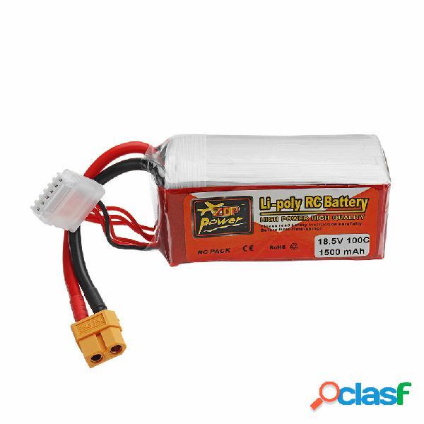 Batería de Lipo ZOP POWER 18.5V 1500mAH 100C 5S Con Enchufe